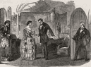 """Scene from """"A pretty piece of business"""" at the Haymarket Theatre. London, 1853"""